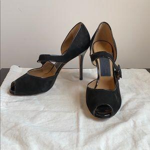 Salvatore Ferragamo peep toe heels